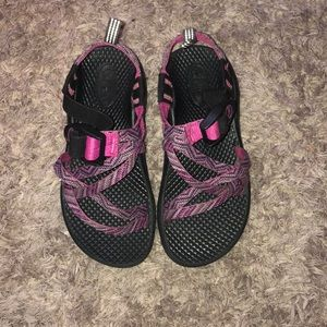 Girls Chaco sandals size 12 pink purple